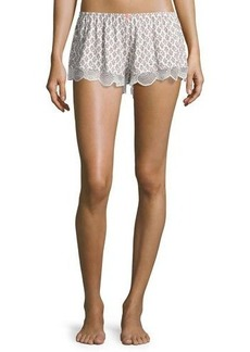 Eberjey Lace-Trim Print Lounge Shorts