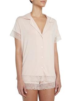 Eberjey Malou Lace-Trim Short Pajama Set