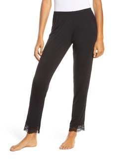 Eberjey Myla The Classic Lace Trim Slim Lounge Pants