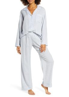 Eberjey Nautico Slouchy Long Pajamas