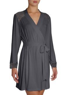 Eberjey 'Noor' Lace Trim Robe
