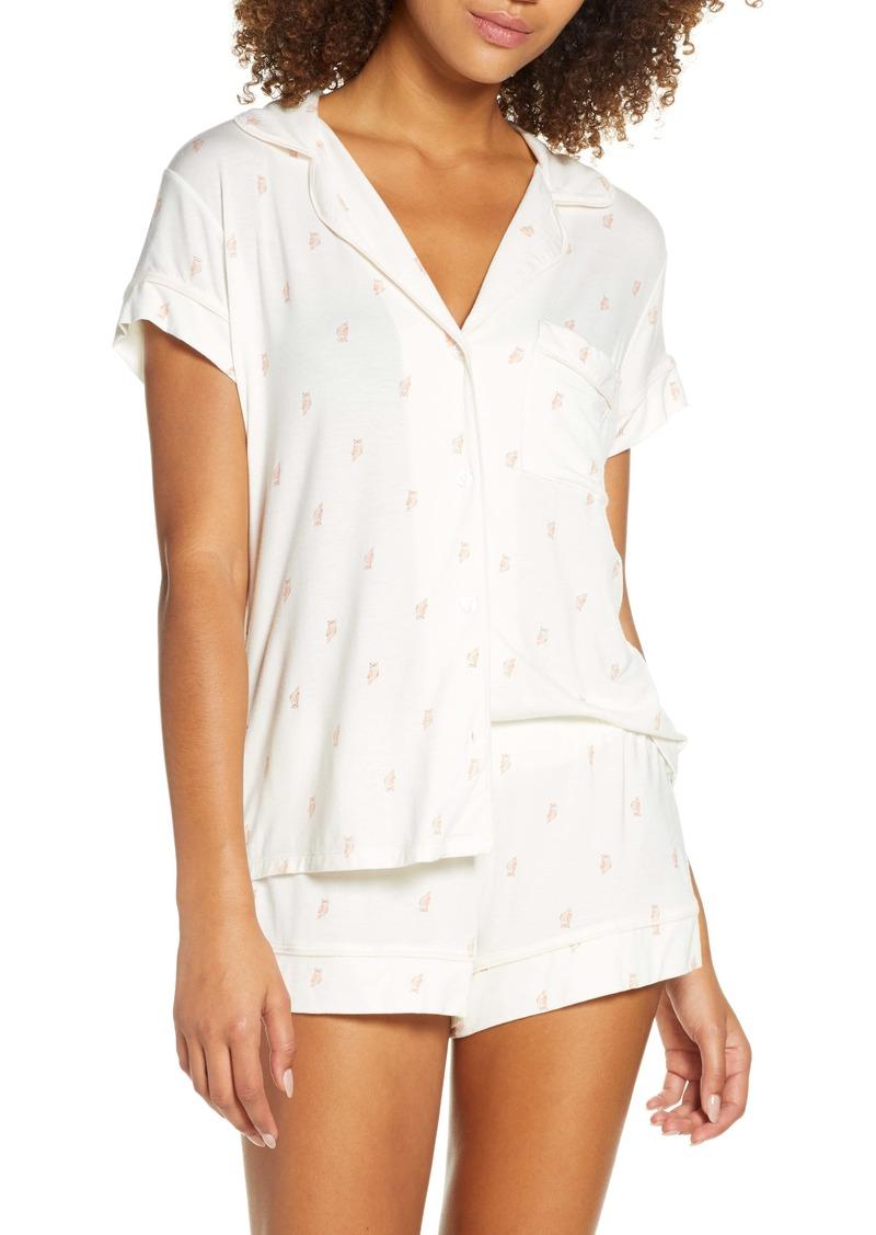 Eberjey Owl Print Short Pajamas