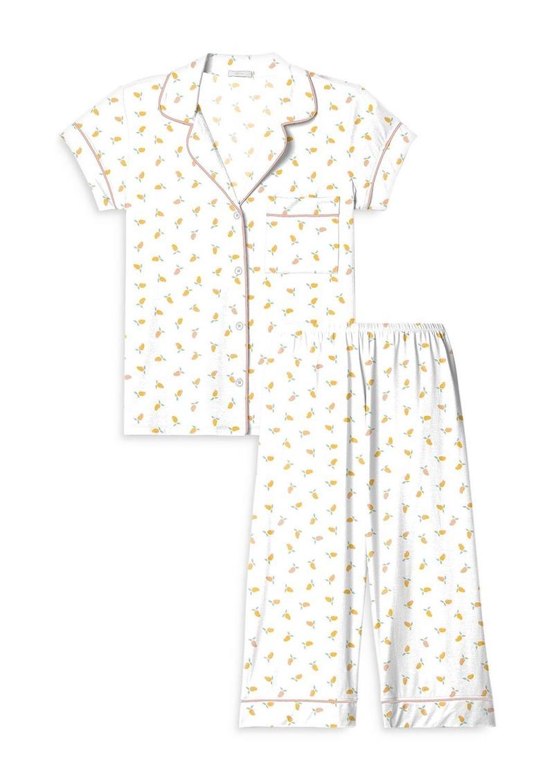 Eberjey Printed Capri Pants Pajama Set