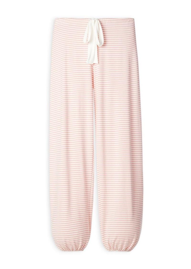 Eberjey Sadie Stripes Cropped Pajama Pants
