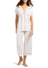 Eberjey Sleep Chic Crop Pajamas