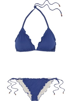 Eberjey So Solid Dakota and Avalon ruffled triangle bikini