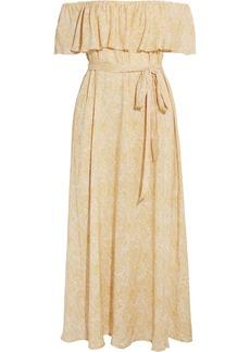 Eberjey Sunrise Paisley Florence off-the-shoulder voile midi dress