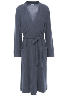 Eberjey Woman Cozy Time Ribbed Modal-blend Robe Anthracite