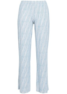 Eberjey Woman Daimond Maze Printed Stretch-modal Pajama Pants Sky Blue