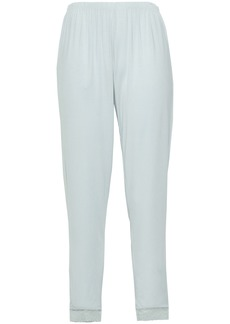 Eberjey Woman Elvia Lace-trimmed Stretch-modal Pajama Pants Sky Blue