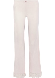 Eberjey Woman Enchanted Lace-trimmed Jersey Pajama Pants Pastel Pink