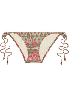 Eberjey Woman Geo Weave Eva Low-rise Printed Bikini Briefs Ecru