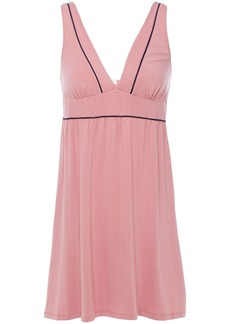Eberjey Woman Gisele The Tuxedo Stretch-modal Chemise Antique Rose