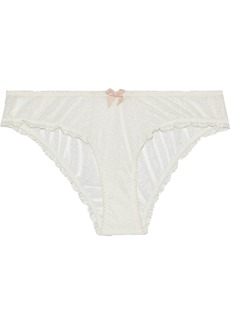 Eberjey Woman Greta Point D'esprit Low-rise Briefs Ivory