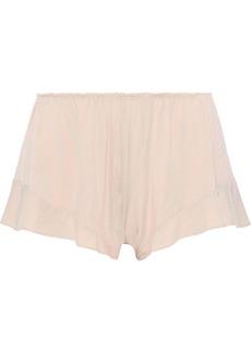 Eberjey Woman Ivy Flounce Stretch Modal-jersey Pajama Shorts Pastel Pink