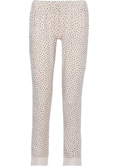 Eberjey Woman Sketchy Spots Lace-trimmed Printed Stretch-modal Pajama Pants Blush