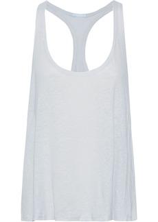 Eberjey Woman Linen-blend Jersey Pajama Top Light Gray
