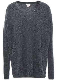 Eberjey Woman Paula The Garconne Marled Knitted Pajama Top Dark Gray