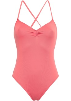 Eberjey Woman Sasha Ruched Swimsuit Coral