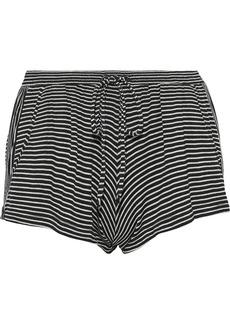 Eberjey Woman Toni Striped Jersey Pajama Shorts Black