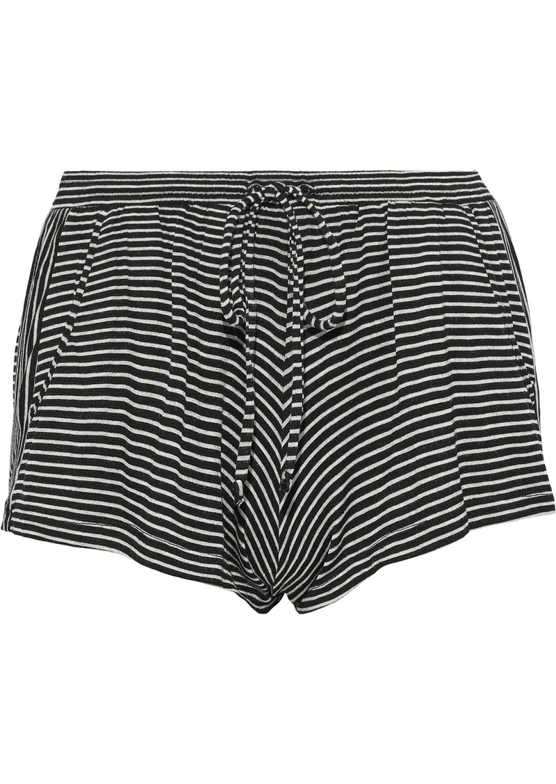 Eberjey Woman Toni Striped Jersey Pajama Shorts Black