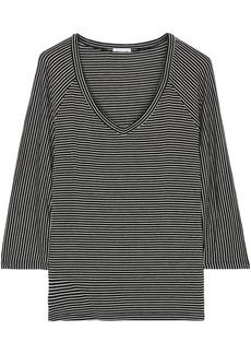 Eberjey Woman Toni Striped Stretch-jersey Pajama Top Black