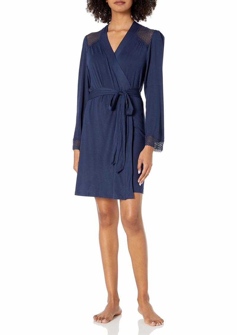 Eberjey Women's Cuff Robe  M