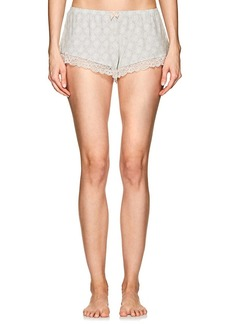 Eberjey Women's Fossil Rock Lace-Trimmed Jersey Shorts