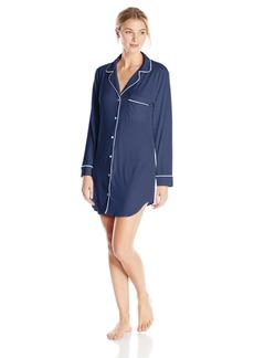 Eberjey Women's Gisele Sleep Shirt Pebble