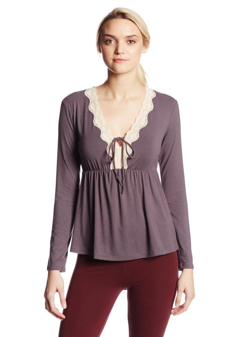Eberjey Women's Lady Godiva Long Sleeve Pajama Tee