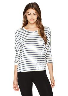 Eberjey Women's Lounge Stripes Slouchy Tee