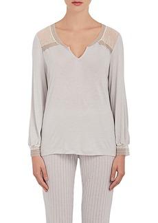 Eberjey Women's Manuela Lace-Trimmed Jersey T-Shirt