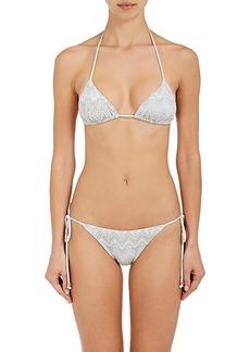 Eberjey Women's Mia Geometric-Print String Bikini Top