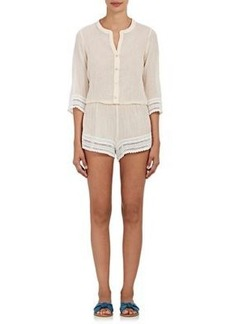 Eberjey Women's Pia Cotton Cover-Up Romper