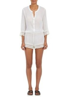 Eberjey Women's Pia Love Shack Cotton Gauze Romper