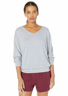 Eberjey Women's Sadie Stripes Dolman Sleeve TOP