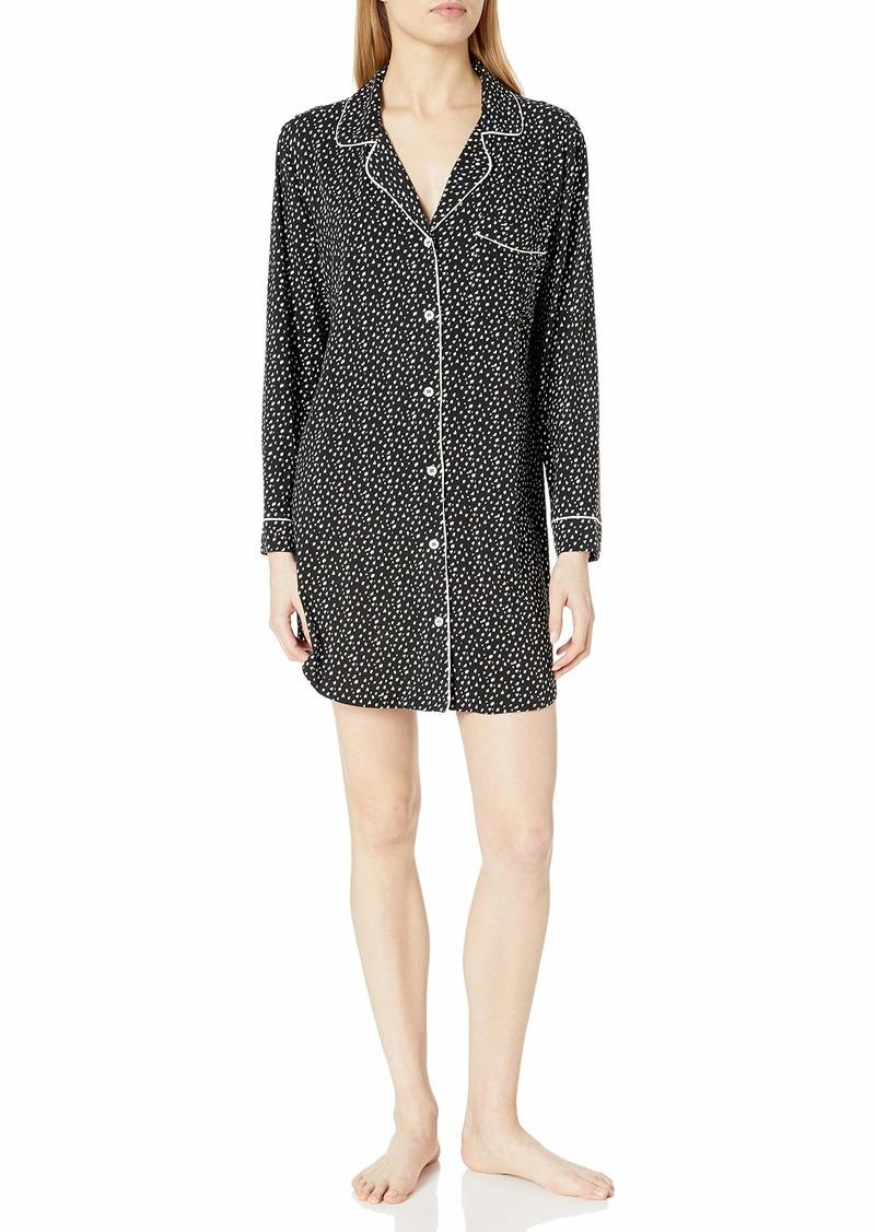 Eberjey Women's Sleepshirt Felix Black/Bellini