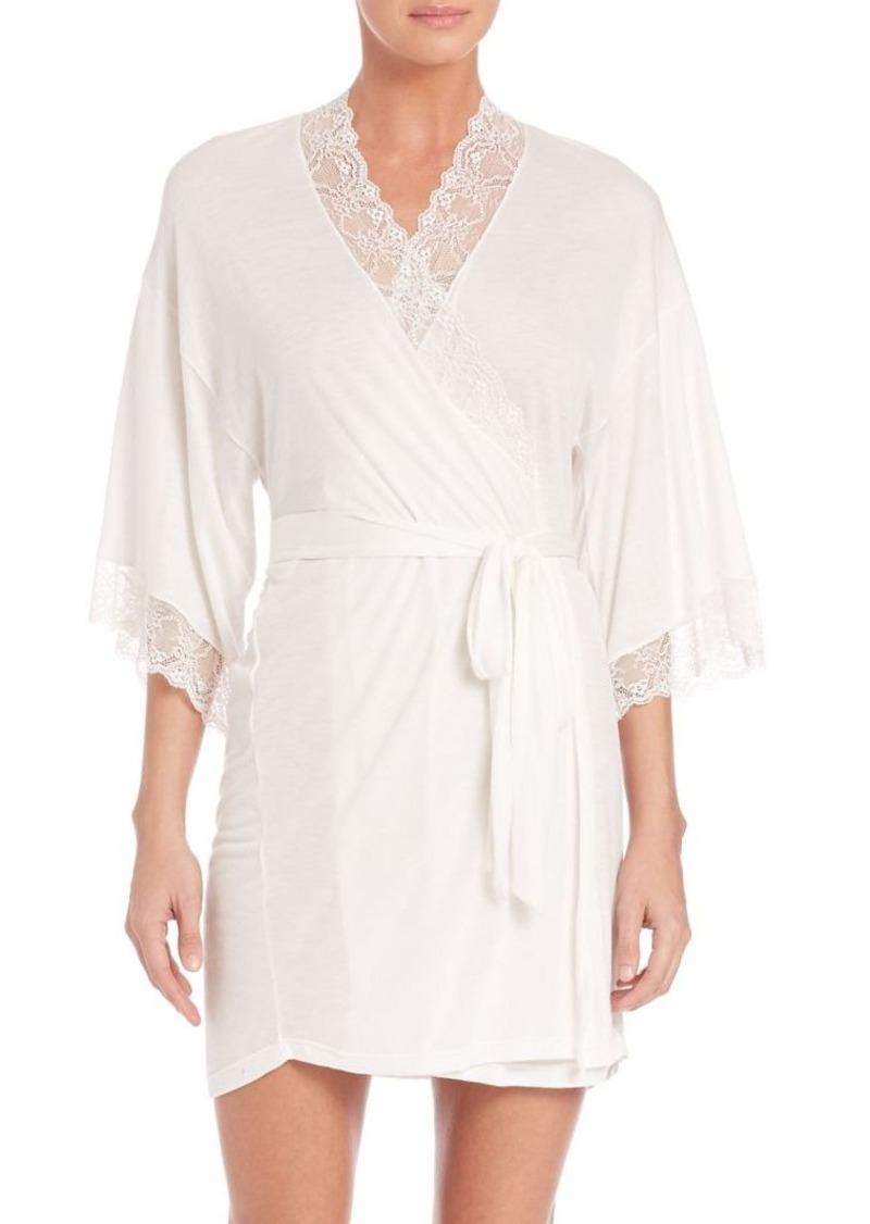 Eberjey Wrap Front Short Robe