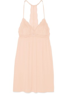Eberjey Esperanza Merry Me stretch-modal jersey and lace chemise