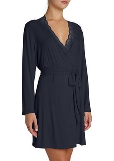 Eberjey Georgina Lace-Trim Robe