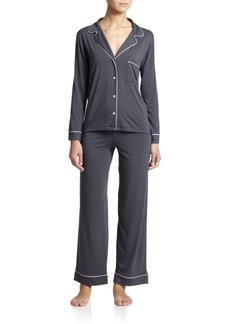 Eberjey Gisele Long-Sleeve Pajama Top and Pants