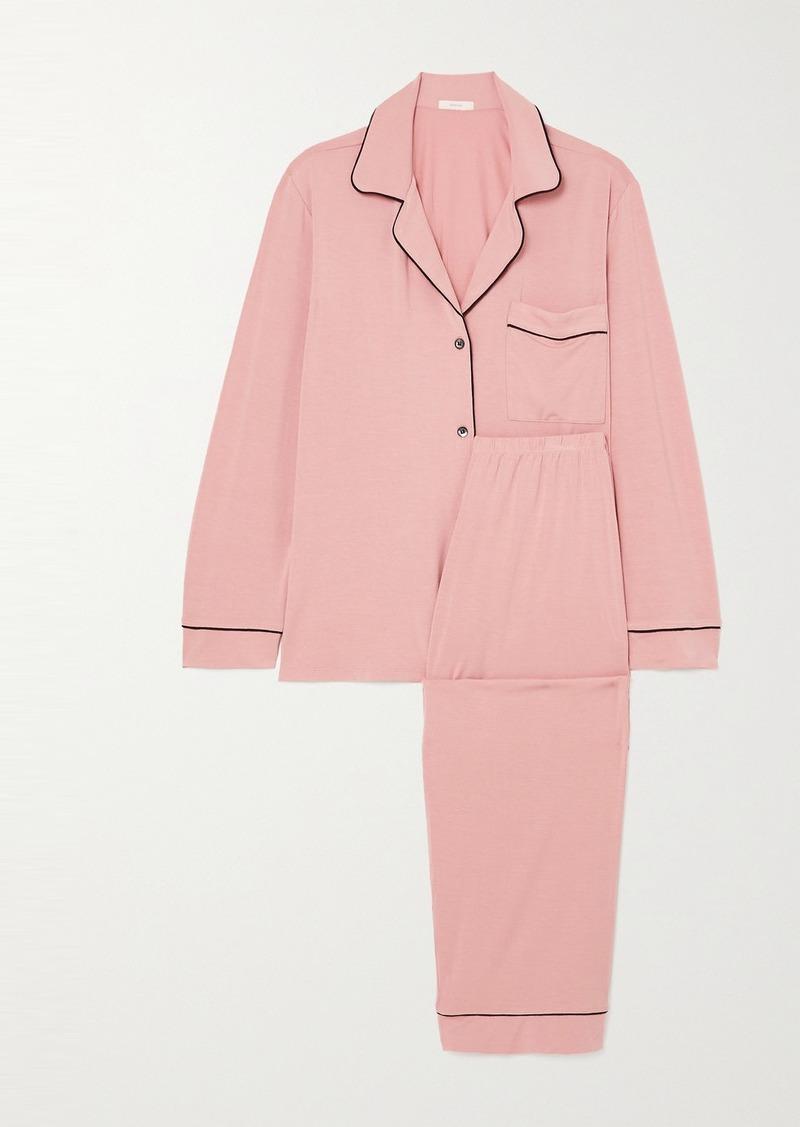 Eberjey Gisele Piped Stretch-modal Pajama Set