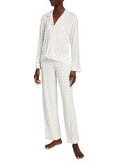 Eberjey Giving Long-Sleeve Printed Pajama Set