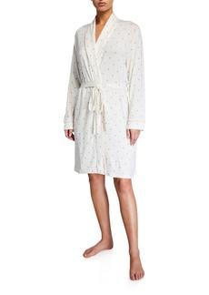 Eberjey Giving Palm Robe & Sleep Mask Set