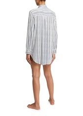 Eberjey Hammock Stripes Boyfriend Sleepshirt