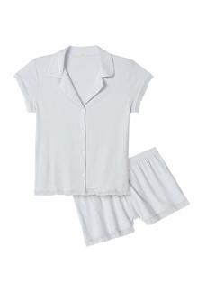 Eberjey Iona 2-Piece Ruffle Pajama Set
