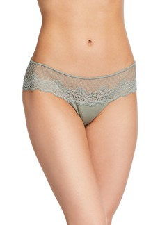 Eberjey Juanita Lace Embroidered Scallop Thong