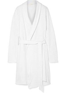 Eberjey Leonor Mélange Cotton-blend Jersey Robe