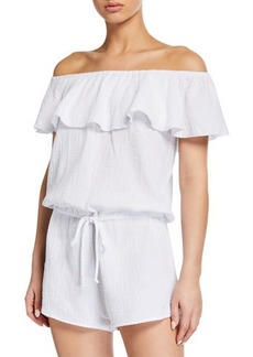 Eberjey Lucia Off-the-Shoulder Teddy Romper