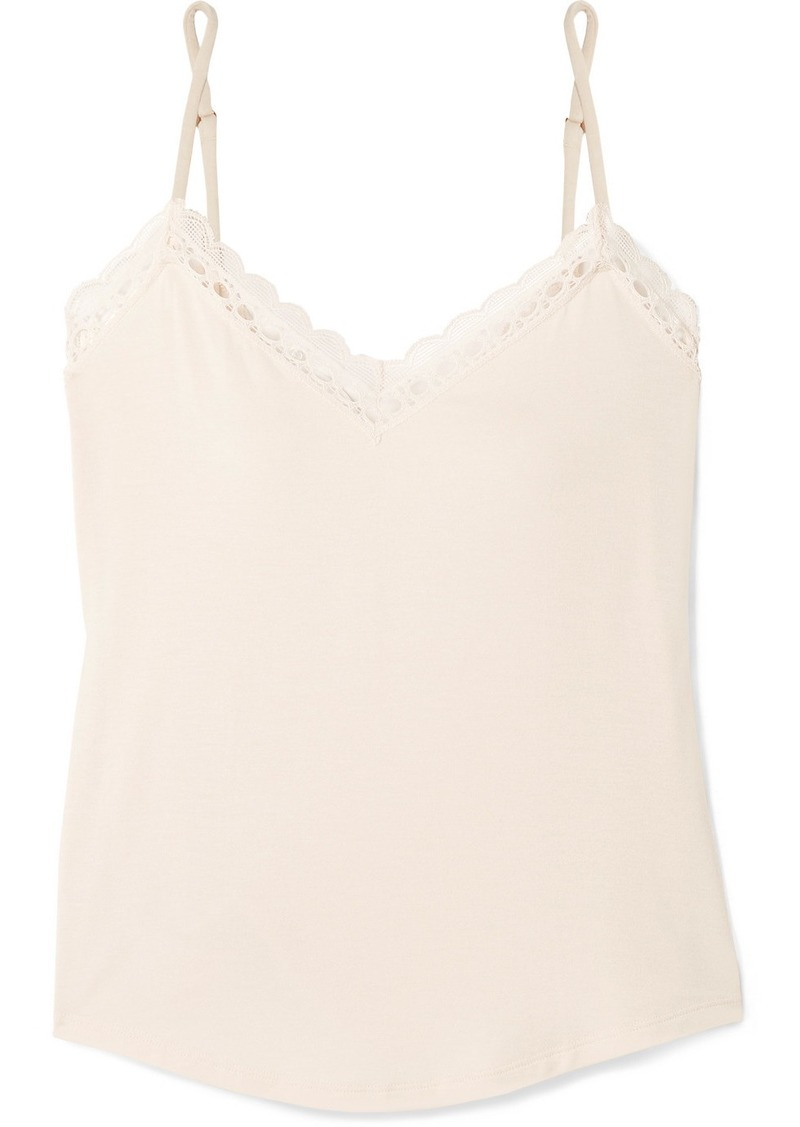 Eberjey Malia Lace-trimmed Stretch-modal Jersey Camisole